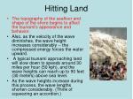 hitting land1