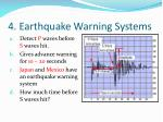4 earthquake warning systems