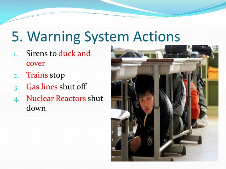 5. Warning System Actions