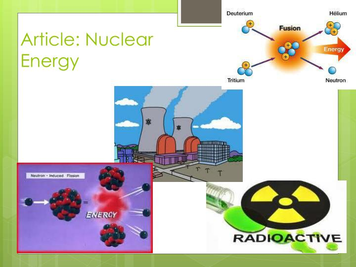 Article: Nuclear Energy