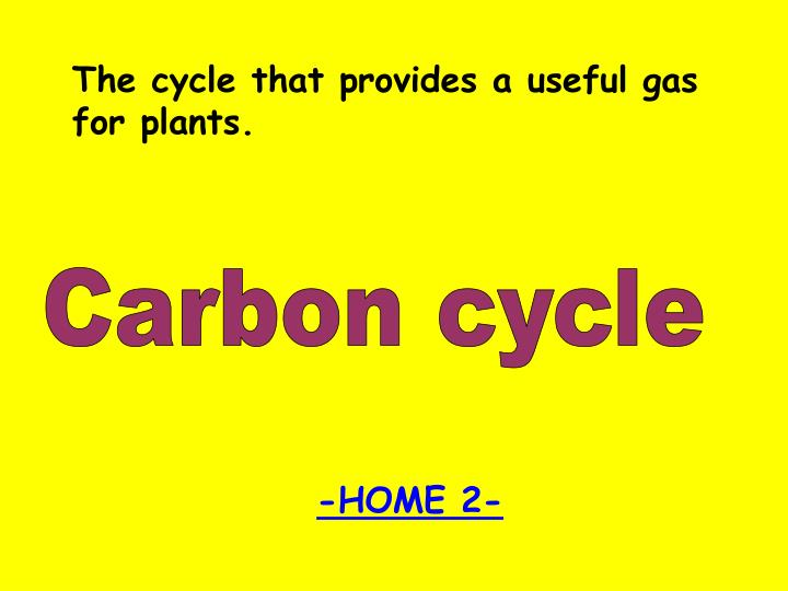 The cycle that provides a useful gas