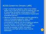 acog committee opinion larc