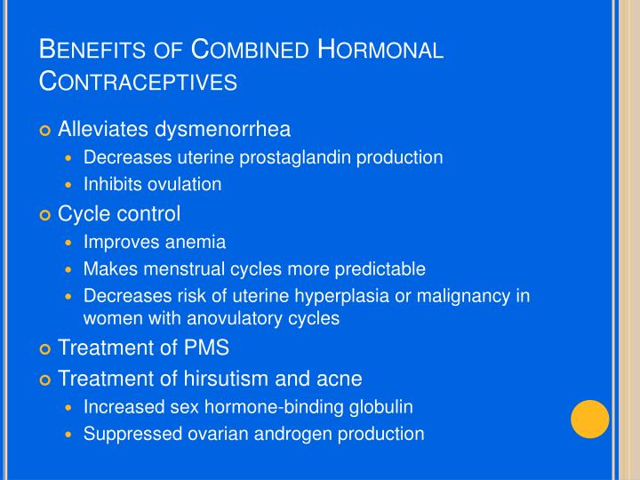 Benefits of Combined Hormonal Contraceptives