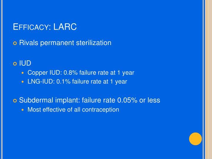 Efficacy: LARC