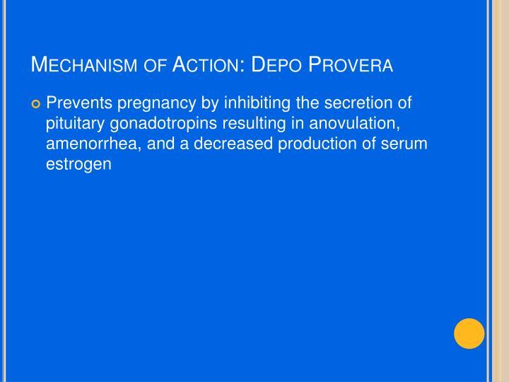 Mechanism of Action: Depo Provera