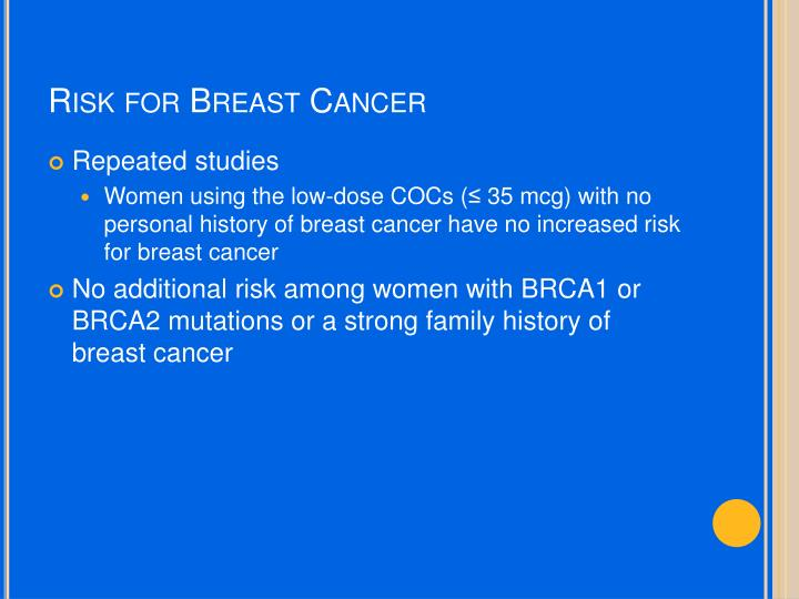 Risk for Breast Cancer