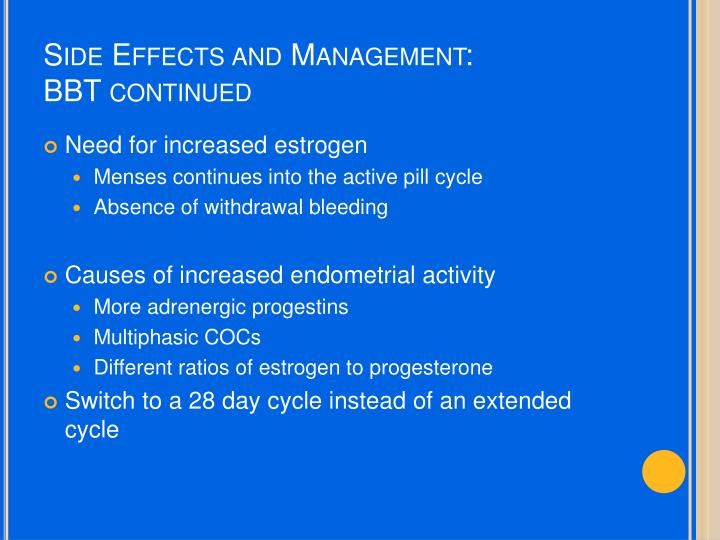 Side Effects and Management: