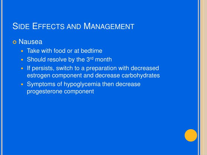 Side Effects and Management