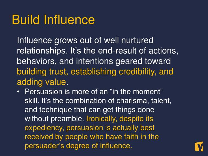 Build Influence