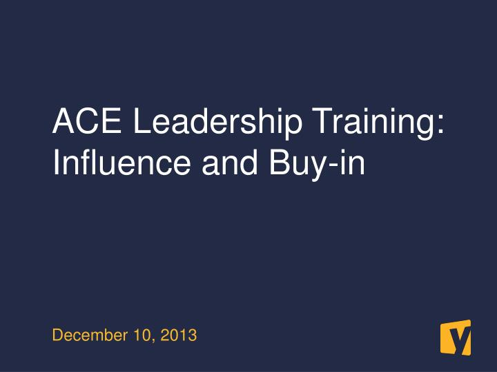 ACE Leadership Training: