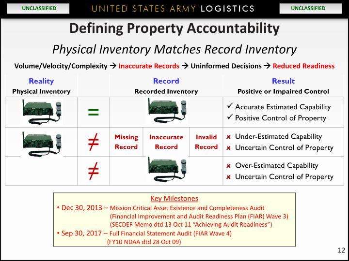 Defining Property Accountability
