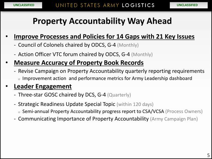 Property Accountability