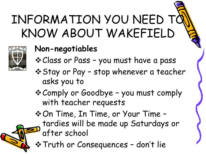 INFORMATION YOU NEED TO KNOW ABOUT WAKEFIELD