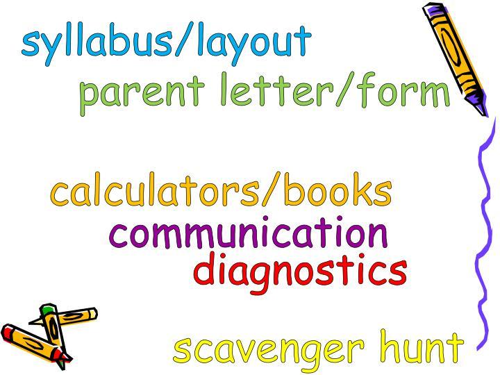 syllabus/layout