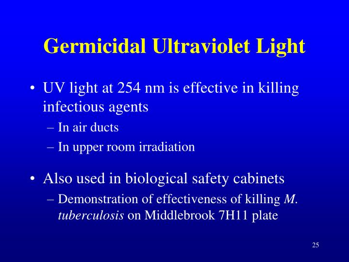 Germicidal Ultraviolet Light