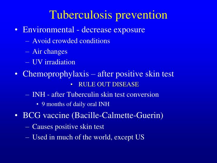 Tuberculosis prevention