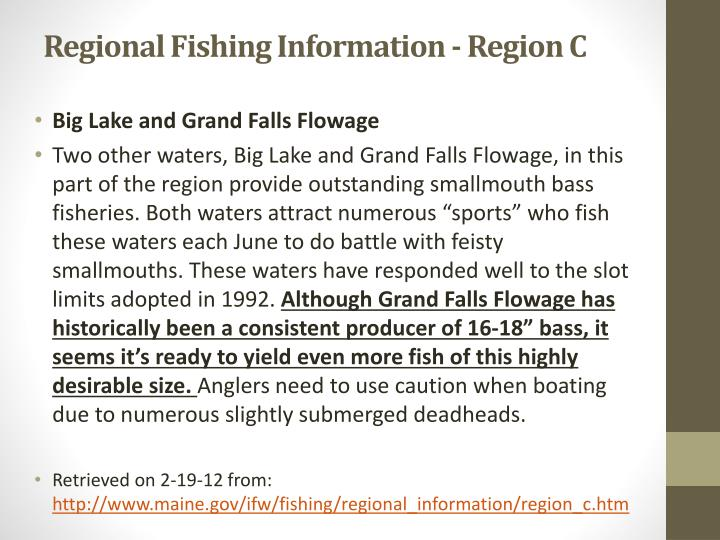 Regional Fishing Information - Region C
