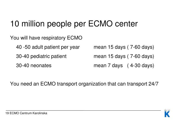 10 million people per ECMO center