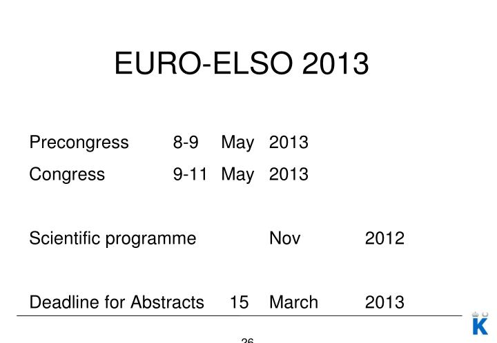 EURO-ELSO 2013