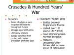 crusades hundred years war