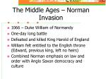 the middle ages norman invasion