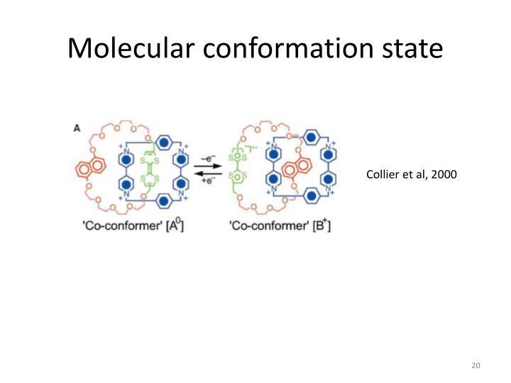 Molecular conformation state