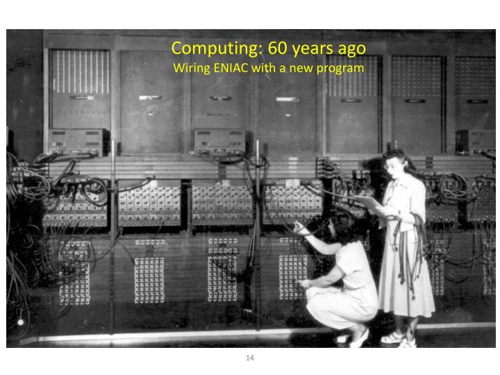 Computing: 60 years ago