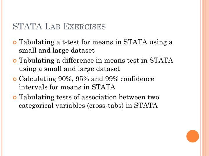 STATA Lab Exercises