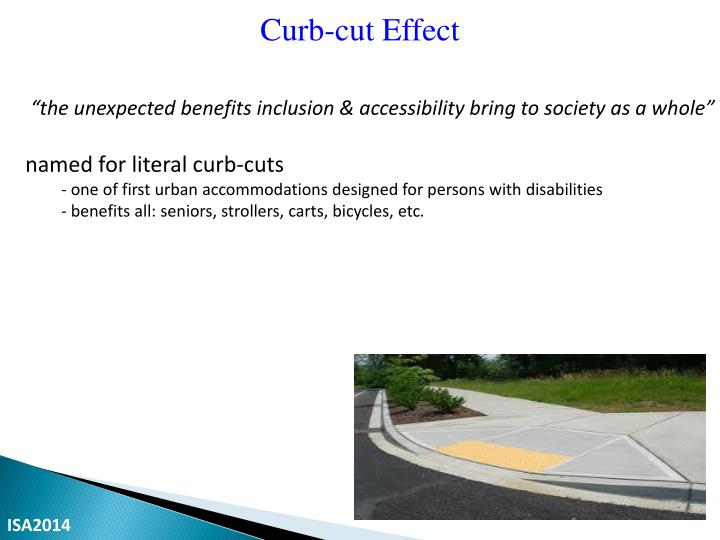 Curb-cut Effect