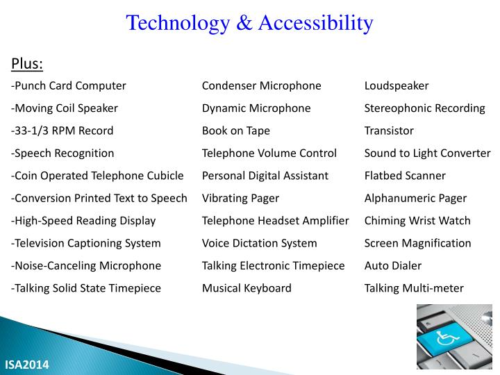 Technology & Accessibility