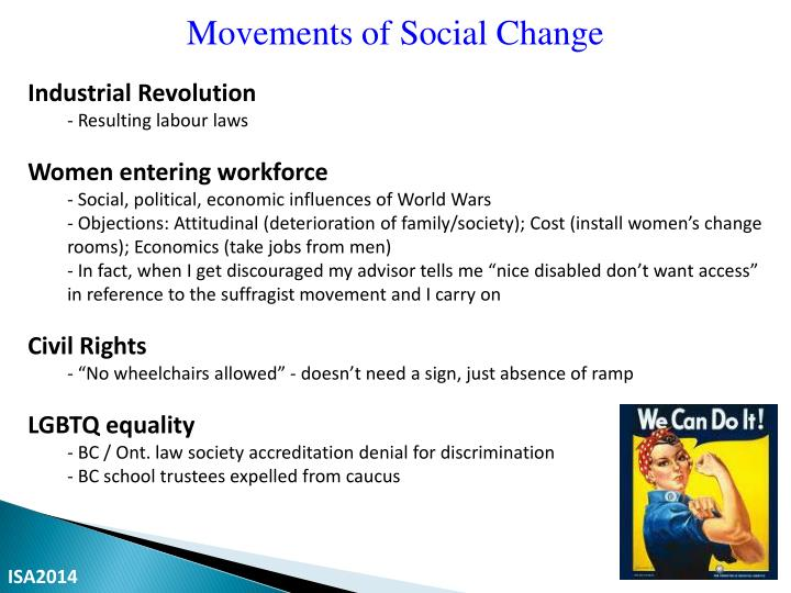 Movements of Social Change