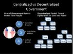 centralized vs decentralized government
