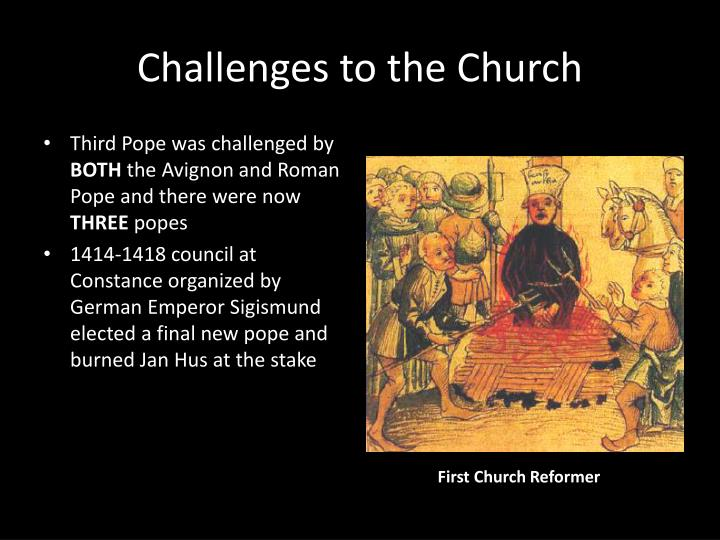 Challenges to the Church