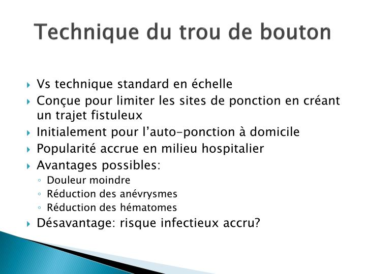 Technique du trou de bouton