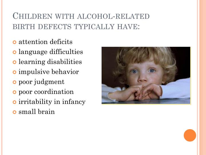 Children with alcohol-related