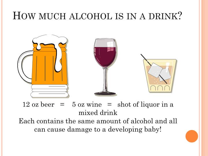 How much alcohol is in a drink?
