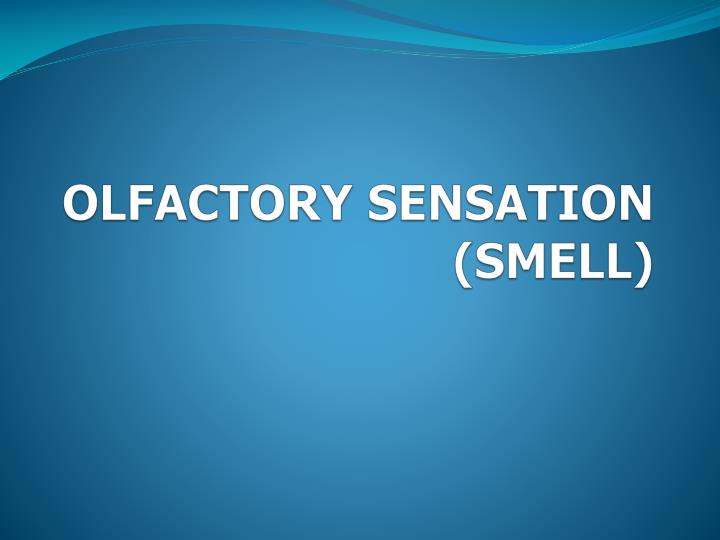 OLFACTORY SENSATION