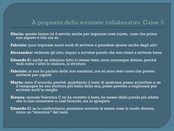 A proposito della revisione collaborativa