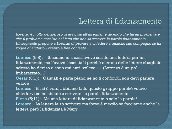 Lettera di fidanzamento
