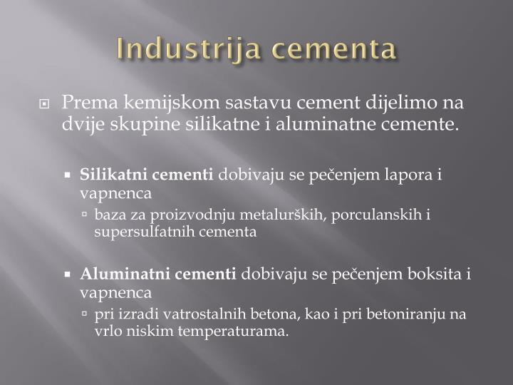 Industrija cementa