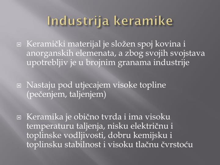 Industrija keramike