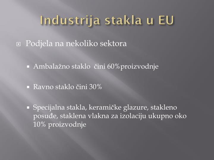 Industrija stakla u EU