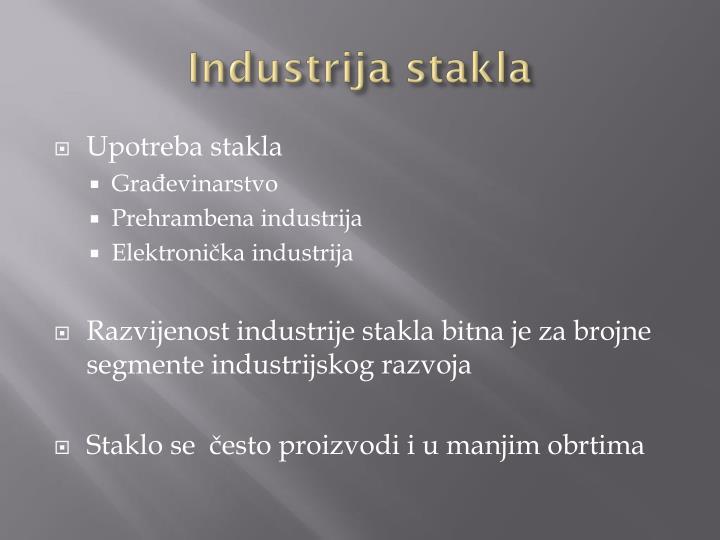 Industrija stakla