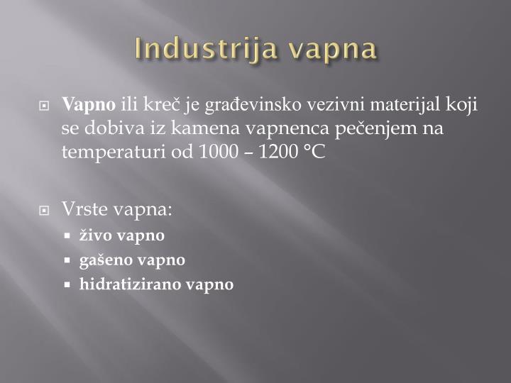Industrija vapna