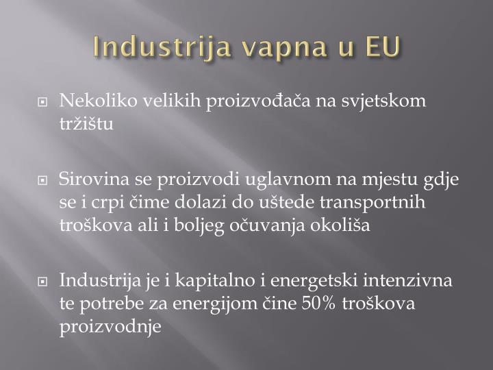 Industrija vapna u EU