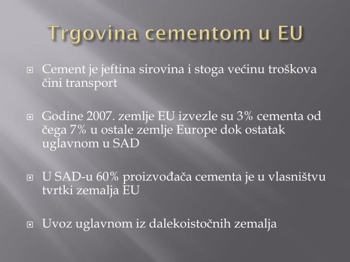 Trgovina cementom u EU