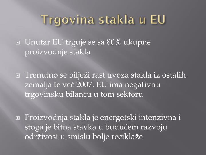 Trgovina stakla u EU