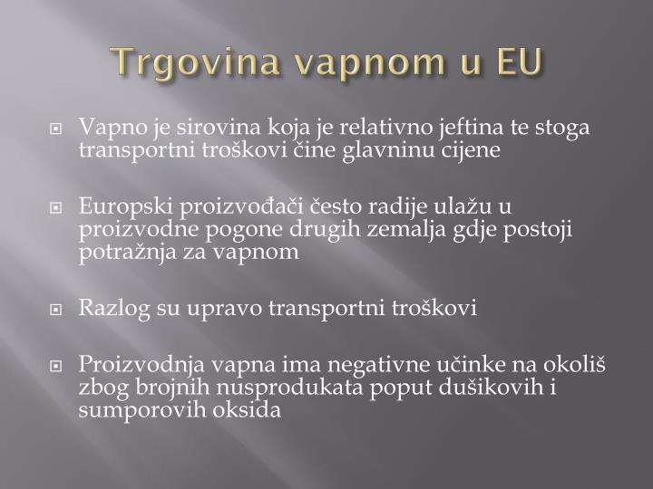 Trgovina vapnom u EU