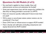 questions for all models 4 of 5