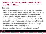 scenario 1 reallocation based on sch and major minor1